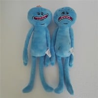New 25cm Rick and Morty Happy Sad Meeseeks Stuffed Plush Toys Dolls For Kids Christmas Gifts