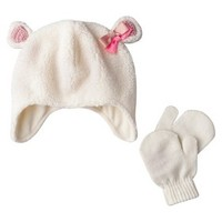 Cherokee® Infant Toddler Girls' Lamb Hat w/ Mittens