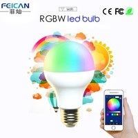 AC85-240V 5W 7W 9W RGBW WIFI LED Bulb Light Colorful Dimmable LED Light Support IOS Android APP Control E27 Version LED Lamp