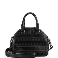 Studded Leather Bowling Satchel