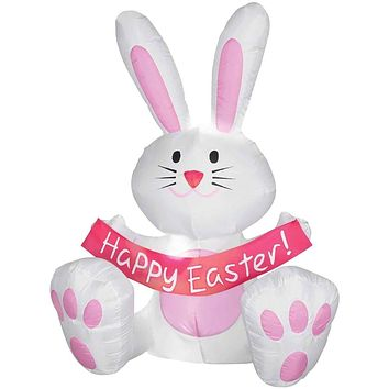 4' Airblown Easter Bunny Inflatable