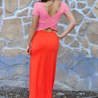 Nice To Meet You Maxi Dress: Coral | Hope's