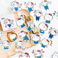 Cute Kawaii Hello Kitty Sanrio Diary Journal Label Phone Stickers Scrapbooking Flakes Decor Decoration Stationery