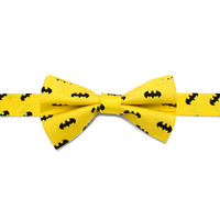 Batman Classic Logo Yellow Boys Bow Tie