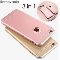 FLOVEME For iPhone 7 7 Plus Case 3 In 1 Combo Slim Hard Plastic Phone Case For iPhone 7 Plus 6 6S Plus Shockproof Armor Cover