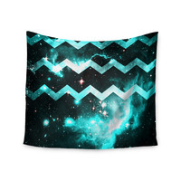 "Alveron ""Aqua Galaxy Chevron"" Wall Tapestry"