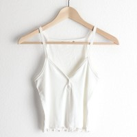 Henley Crop Top