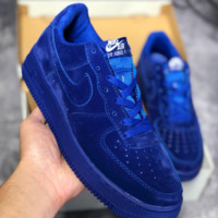 KUYOU N456 Nike Air Force 1 AF1 LV8 LTR Low Suede Fashion Casual Skate Shoes Blue