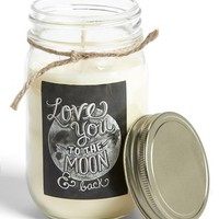 Primitives by Kathy 'Love' Mason Jar Candle - White