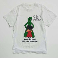 """Rare 80s Gumby and Betty Boop """"No More Mr Nice Guy"""" Parody Tee Size L"""
