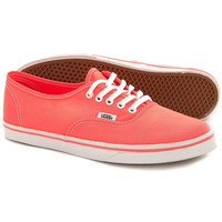 NIB Vans Authentic LO PRO NEON CORAL True White Women Casual Shoes