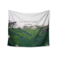 """Ann Barnes """"Adventure is Waiting"""" Mountain Wall Tapestry"""