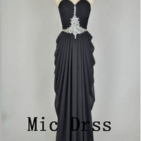 High Quality Sweetheart Sleeveless Floor-length Sequins Beading Prom/Evening/Party/Homecoming/cocktail /Bridesmaid/Formal Dress