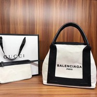 """BALINCIAGA"" Latest Fashion Canvas Bag"