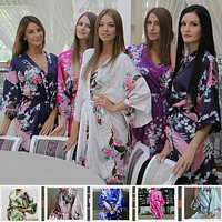 Satin Robes for Brides Weddign Silk Pijama Casual Bathrobe Animal Rayon Long Sexy Nightgown Women Sleepwear Kimono XXXL 950 = 1929412676