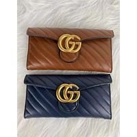 GUCCI Women Fashion New Monogram Leather Wallet