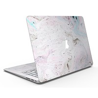 Mixtured Pink and Gray v3 Textured Marble - MacBook Air Skin Kit