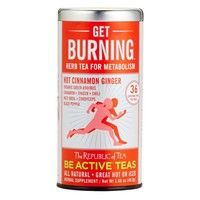 The Republic Of Tea Be Active Green Rooibos Tea, Get Burning - Herb Tea For Metabolism, 36 Tea Bag Tin