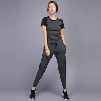 Women Running Set Jogging Sportswear Training Running Tights Sports Suit Women Yoga Clothes Lady Gym Workout Fitness Clothing