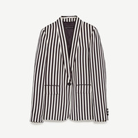 STRIPED TWO-TONE JACKETDETAILS
