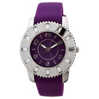 FMD by Fossil Women's Standard 3-Hand Analog Base Metal Silicone Watch FMDCT408A
