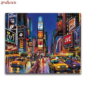 5D Diamond Painting Time Square in New York City Kit