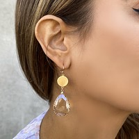 Alyce Gold Tear Drop Earrings