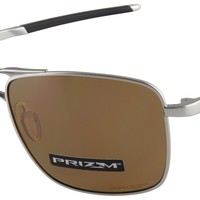 Oakley Gauge 6 Sunglasses OO6038-0557 Satin Chrome| Prizm Tungsten Polarized NIB