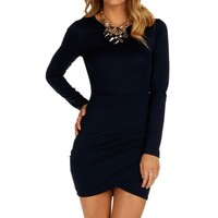 Navy Chic Deep Back Dress
