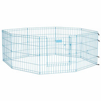 """Midwest Life Stages Pet Exercise Pen with Full MAX Lock Door 8 Panels Blue 24"""" x 24"""""""