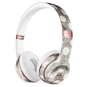 Black and Concrete Surface Polka Dots Full-Body Skin Kit for the Beats by Dre Solo 3 Wireless Headphones