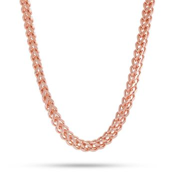 6mm, Rose Gold Stainless Steel Franco Chain