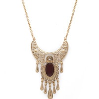 Faux Stone Longline Necklace   Forever 21 - 1000177412