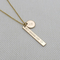 Grandma Necklace Best Grandma Ever Custom Necklace Initial Necklace Grandma gift Mother's day gift