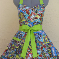 Limited Time Only- Sweetheart Hostess Apron - Marvel Comics- with a hint of Lime