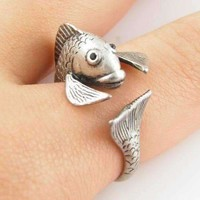 Fish Friend Adjustable Animal Wrap Ring For Woman
