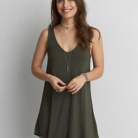AEO Soft & Sexy Strappy Back Dress, Olive
