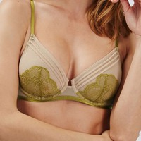Lace and Mesh Underwire Bra - New In This Week - New In