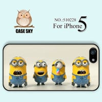 iPhone 5 Case, Despicable Me, Minion Character, iPhone Case, Plastic Phone Cases, Case for iPhone-510228