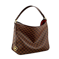 Louis Vuitton Damier Canvas Delightful MM Shoulder Tote Handbag Article: N41460