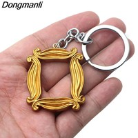 P2944 Dongmanli Friends TV Show Acrylic Pendant Chain keychain jewelry Photo frame For Good Friends gifts Dropshipping