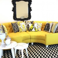 www.roomservicestore.com - Yellow Circle Sectional