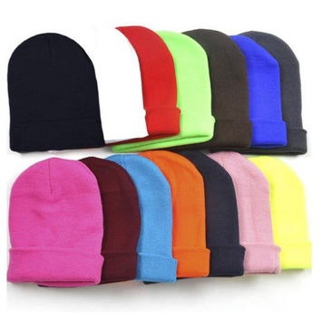 Fashion Knitted Neon Women's Beanie Hats