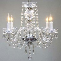 """New! Authentic All Crystal Chandelier Chandeliers H17"""" x W17"""""""