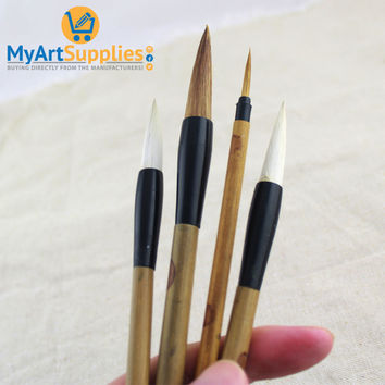 Traditional Chinese Painting Brushes (4 Pack)