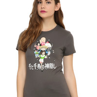 Studio Ghibli Spirited Away Chihiro Running Girls T-Shirt