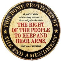 NRA or 2nd Amendment Embossed Tin Sign | Shop Hobby Lobby