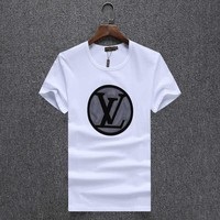 Louis Vuitton Women Man Fashion Print Sport Shirt Top Tee