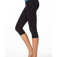 Tribal Print Skinny Workout Capris