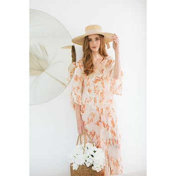 Taylen Sheer Floral Cover Up Dress